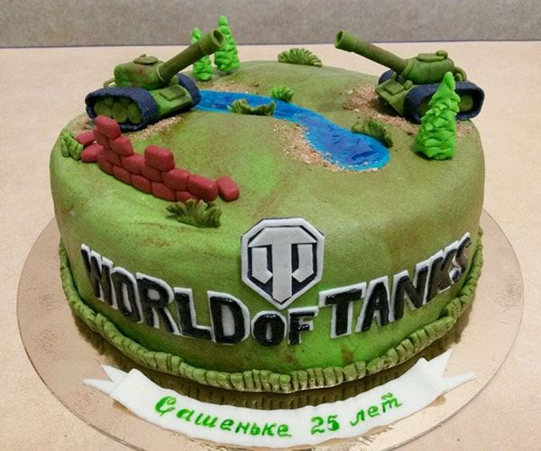 Торт World of Tanks - a820