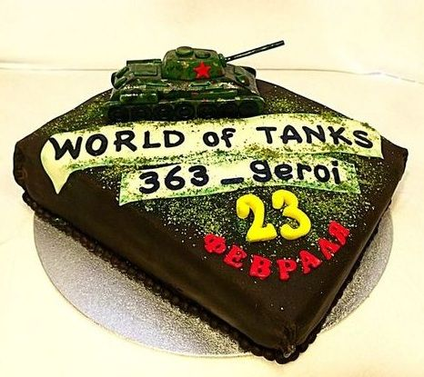 Торт World of Tanks - a821